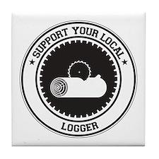 Support Logger Tile Coaster