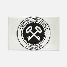 Support Locksmith Rectangle Magnet