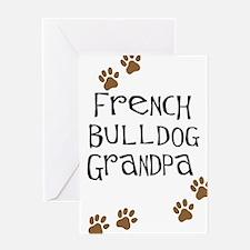 French Bulldog Grandpa Greeting Card
