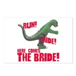 Run Hide Here Comes the Bride Postcards (Package o