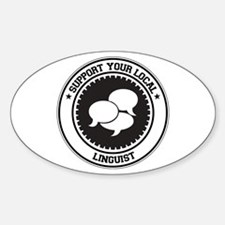 Support Linguist Oval Decal