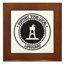 Support Lifeguard Framed Tile