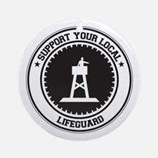 Support Lifeguard Ornament (Round)