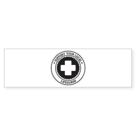 Support Lifeguard Bumper Sticker