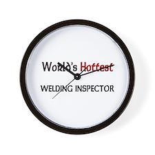 World's Hottest Welding Inspector Wall Clock