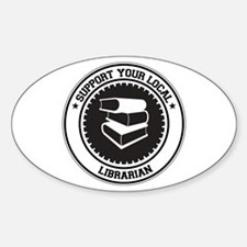 Support Librarian Oval Decal