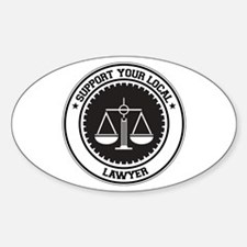 Support Lawyer Oval Decal