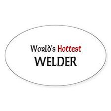 World's Hottest Welder Oval Decal