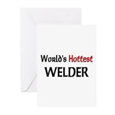 World's Hottest Welder Greeting Cards (Pk of 10)