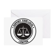 Support Lawyer Greeting Card