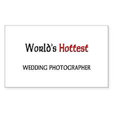 World's Hottest Wedding Photographer Sticker (Rect