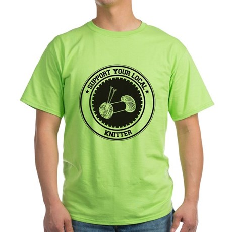 Support Knitter Green T-Shirt