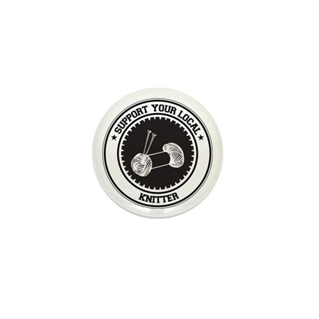 Support Knitter Mini Button