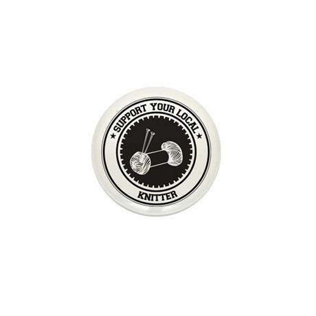 Support Knitter Mini Button (100 pack)
