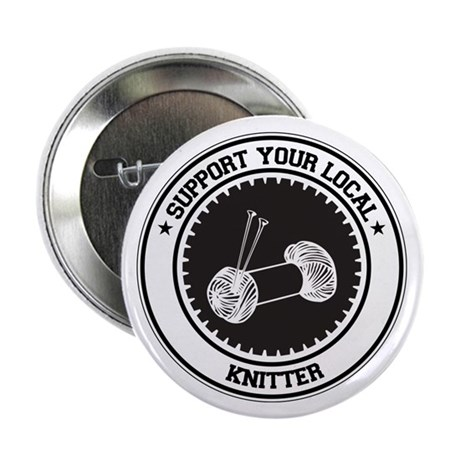 "Support Knitter 2.25"" Button (10 pack)"