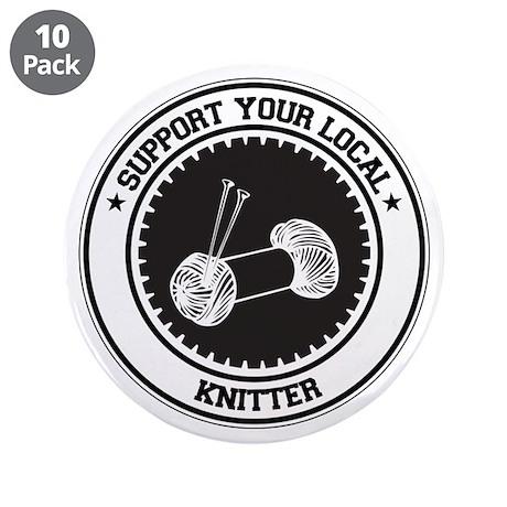 "Support Knitter 3.5"" Button (10 pack)"