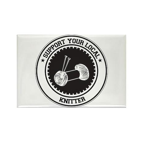 Support Knitter Rectangle Magnet (10 pack)