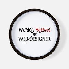 World's Hottest Web Designer Wall Clock