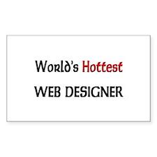 World's Hottest Web Designer Rectangle Decal