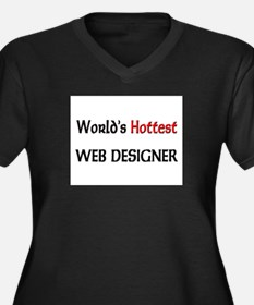 World's Hottest Web Designer Women's Plus Size V-N