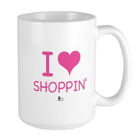 I Love Shoppin' Large Mug