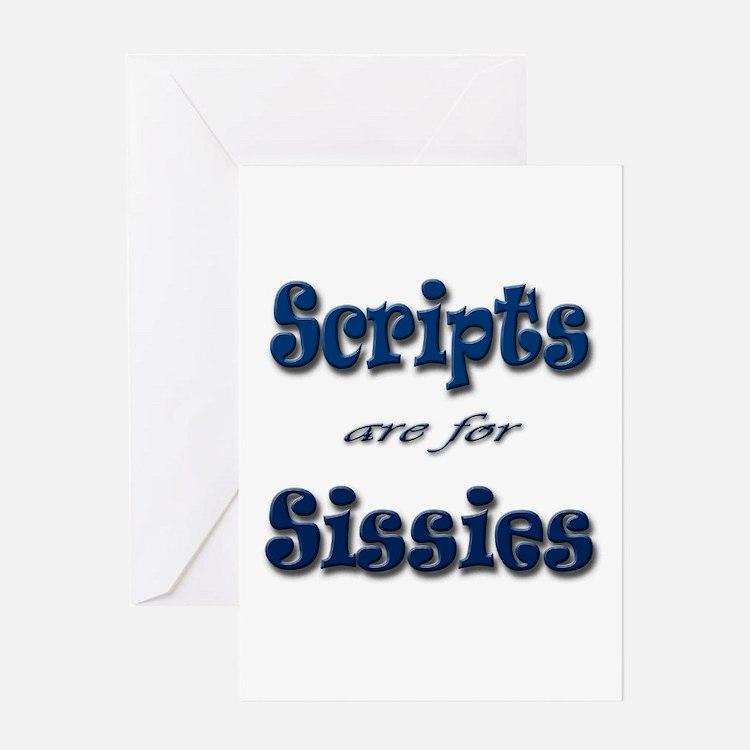 Script Sissies Greeting Card