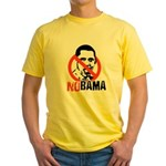 NOBAMA / Anti-Obama Yellow T-Shirt
