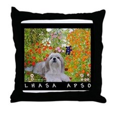 Lhasa Apso Fine Art Sophie Throw Pillow