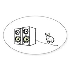 speaker bunny Oval Decal