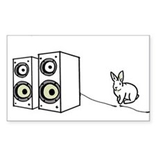 speaker bunny Rectangle Decal