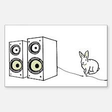 speaker bunny Rectangle Decal
