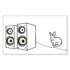 speaker bunny Rectangle Stickers