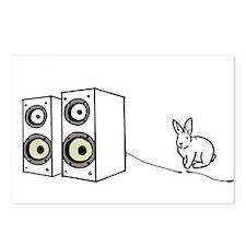 speaker bunny Postcards (Package of 8)