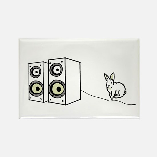 speaker bunny Rectangle Magnet