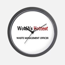 World's Hottest Waste Management Officer Wall Cloc