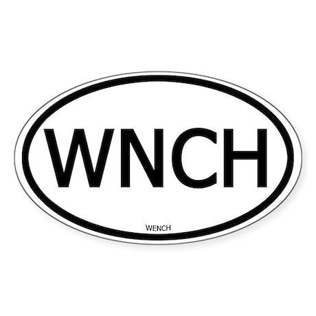 WNCH Oval Sticker