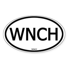 WNCH Oval Stickers