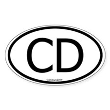 CD Oval Decal