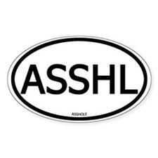 ASSHL Oval Decal