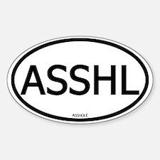 ASSHL Oval Decal