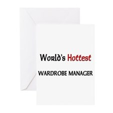 World's Hottest Wardrobe Manager Greeting Cards (P