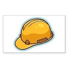 Hard Hat Rectangle Decal