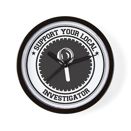 Support Investigator Wall Clock
