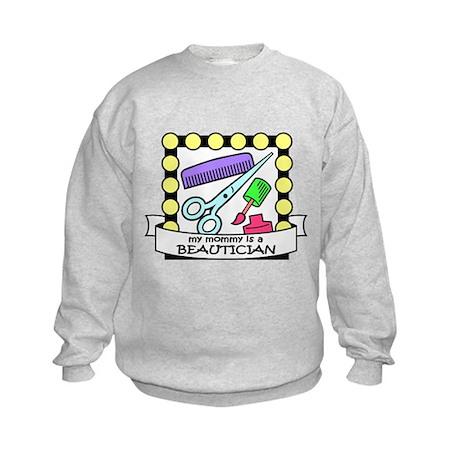 Beautician Mommy Kids Sweatshirt