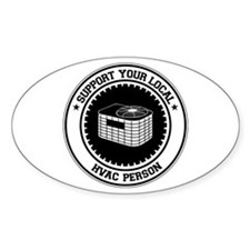 Support HVAC Person Oval Decal