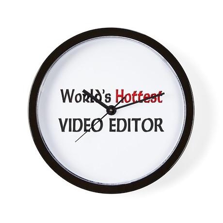 World's Hottest Video Editor Wall Clock