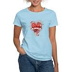 Heart Muslim Women's Light T-Shirt