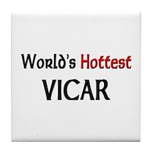 World's Hottest Vicar Tile Coaster