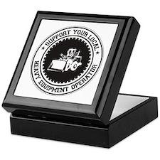 Support Heavy Equipment Operator Keepsake Box