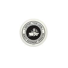 Support Heavy Equipment Operator Mini Button
